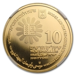 2005 Israel Moses & Ten Commandments 1/2 oz Gold PF-70 UCAM NGC
