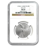 1990 1/2 oz Russian Palladium Ballerina (MS-69 NGC)