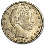 1909-P Almost Uncirculated - Barber Half Dollar