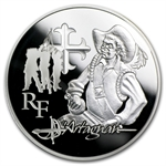 2012 10 Euro Silver Proof Heroes of French Literature -d'Artagnan
