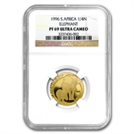 South Africa 1996 1/4 Oz Gold Natura NGC PF-69UC