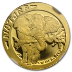 South Africa 1996 1/10 Oz Gold Natura NGC PF-69UC
