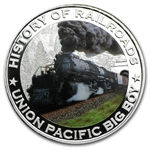 Liberia 2011 5 Dollars Silver Proof - Union Pacific Big Boy