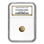 Isle of Man 1984 1/20 oz Gold Angel NGC PF-69 UC