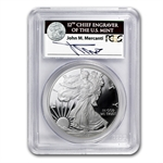 2011-W Proof Silver Eagle 25th Annv PR-70 PCGS John Mercanti