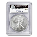 2011-W Burnished Silver Eagle 25th Anniv MS-70 PCGS John Mercanti