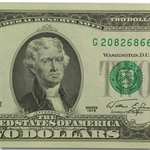 1976 (G-Chicago) $2 FRN  CU  5 Consecutive Notes