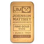 1 oz Johnson Matthey Gold Bar (TD Bank) .9999 Fine