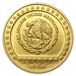 Mexico 1992 250 Pesos Gold Uncirculated Jaguar KM#558