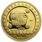 Mexico 1992 250 Pesos Gold Proof Jaguar KM#558