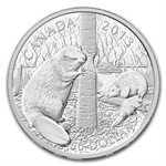 2013 5 oz Silver Canadian $50 Coin - The Beaver
