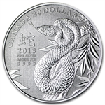 2013 1/4 oz Silver Canadian $20 Lunar Year of the Snake