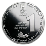2012 Israel Daniel in the Lion's Den Silver 1 NIS MS-70 PL NGC