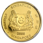 Singapore 1988 1/10 oz Gold Dragon NGC PF-70 UC