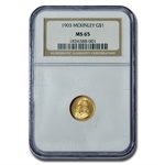 1903 $1.00 Gold Louisiana Purchase - McKinley MS-65 NGC