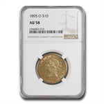 1895-O $10 Liberty Gold Eagle - AU-58 NGC