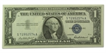 1957 $1 Silver Certificate CU (5 Consecutive Notes)