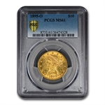 1895-O $10 Liberty Gold Eagle - MS-61 PCGS