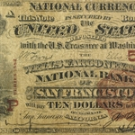 San Francisco, CA - 1882 Brown Back - $10 (CH#5105) (Very Good)