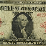 1923 $1 Red Seal United States Note (Fine)