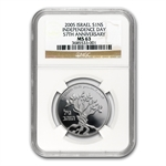2005 Israel The Golden Years 1 NIS Silver MS-63 NGC