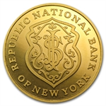 Republic National Bank of New York - 1 oz Gold Round .9999 Fine