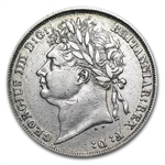 Great Britain 1825 Shilling George IV EF Details