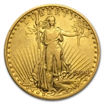 1909/8 $20 St. Gaudens Gold Double Eagle - VF