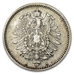 Germany 1873-A 20 Pfennig Silver Very Fine