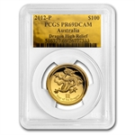 2012 1 oz Ultra High Relief Proof Gold Dragon PCGS PR-69 DCAM