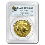 2013 1 oz Gold Buffalo MS-69 PCGS First Strike Black Diamond