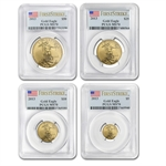 2013 4-Coin Gold American Eagle Set MS-70 PCGS First Strike