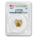 2013 1/10 oz Gold American Eagle MS-70 PCGS First Strike