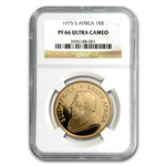 1975 1 oz Gold South African Krugerrand NGC PF-66 Ultra Cameo