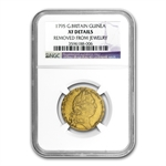 Great Britain 1795 Gold Guinea NGC EF Details