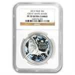 2012 1 oz Silver Niue $2 Great White Shark NGC PF-70 UCAM