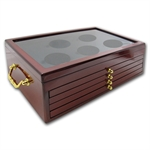 5-Tier Brand New Custom Wood Display Box for 25 - Coin ATB Set