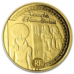 2012 5 Euro 1/2 gram Gold Proof Egyptian Heritage - Abu Simbel