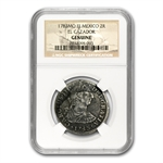 El Cazador Shipwreck 2 Reales Silver Collection NGC - Genuine