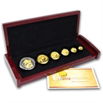 2012 China Panda Gold and Lunar Premium Set (Year of the Dragon)