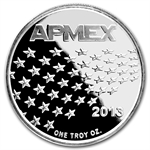 1 oz APMEX 2013 Stars and Stripes Silver Round .999 Fine