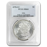 1878-CC Morgan Dollar MS-61 PCGS - GSA