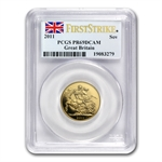 Great Britain 2011 Gold Sovereign PCGS PR-69 DCAM First Strike