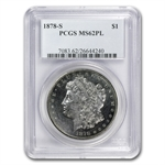 1878-S Morgan Dollar MS-62 PL Proof Like PCGS