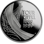 1989 French 5 Francs - Platinum Eiffel Tower (PF-67 UCAM)