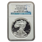 2013-W Proof Silver American Eagle PF-70 NGC UCAM Early Releases