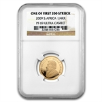 2009 1/4 oz Gold South African Krugerrand NGC PF-69 UCAM
