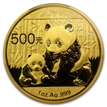 2012 1 oz Gold Chinese Panda MS-69 PCGS First Strike