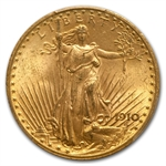 1910 $20 St. Gaudens Gold Double Eagle - MS-63+ PCGS