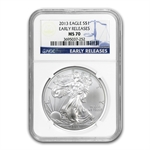 2013 Silver American Eagle - MS-70 NGC - Early Releases